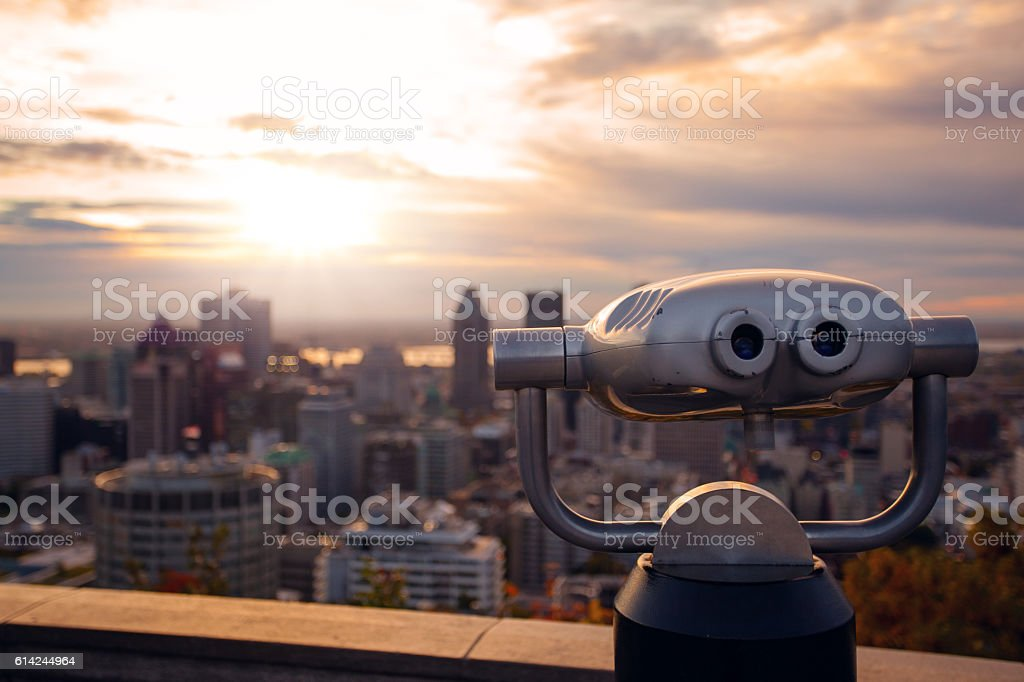 Nice view on Sunrise in Montreal stock photo
