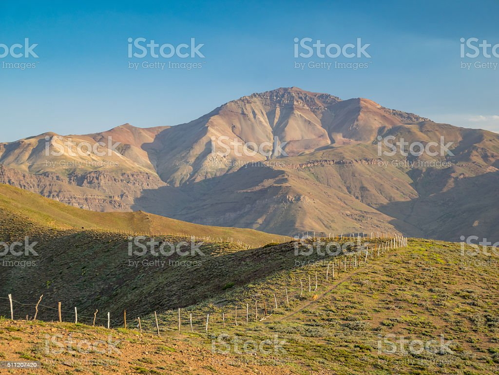 nice view over the andes royalty-free stock photo