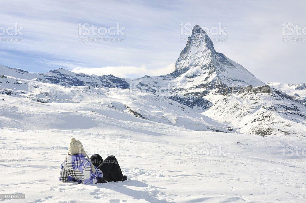 Nice view to Matterhorn, Switzerland stock photo