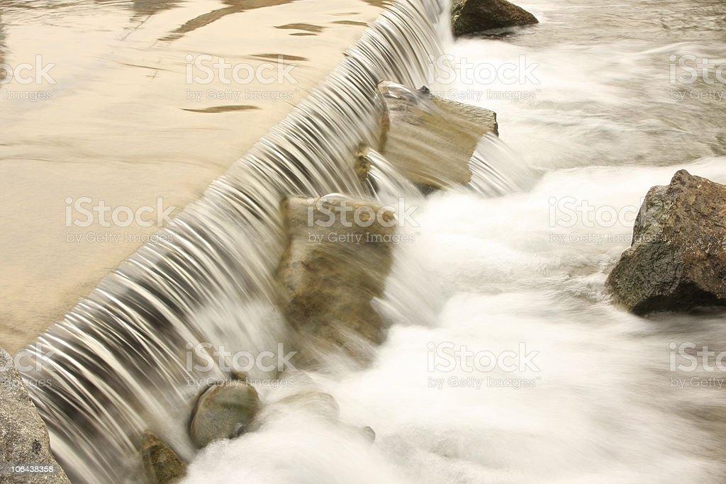 Nice water cascade stock photo
