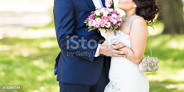 istock nice wedding bouquet in bride's hand 515264744