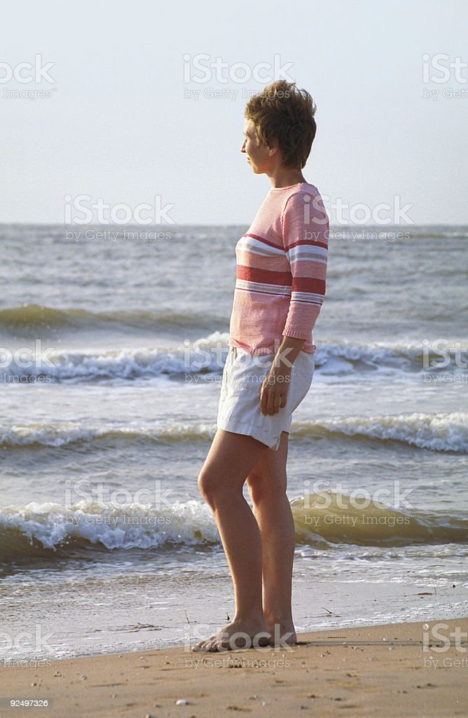 Nice women on the beach royalty-free stock photo