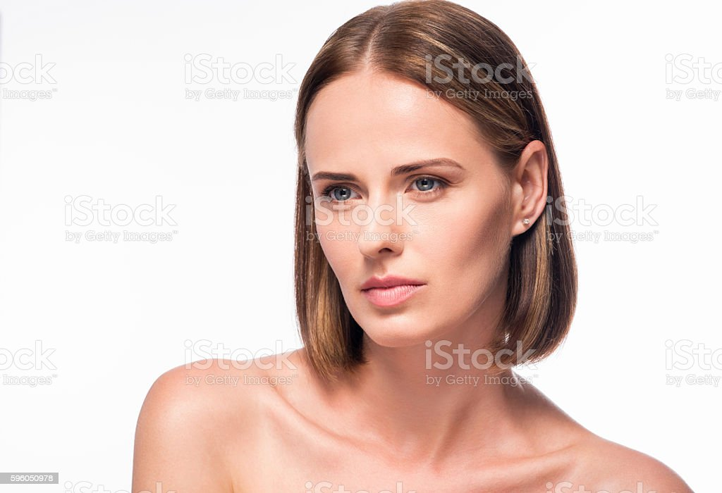 Nice young woman posing for photo royalty-free stock photo