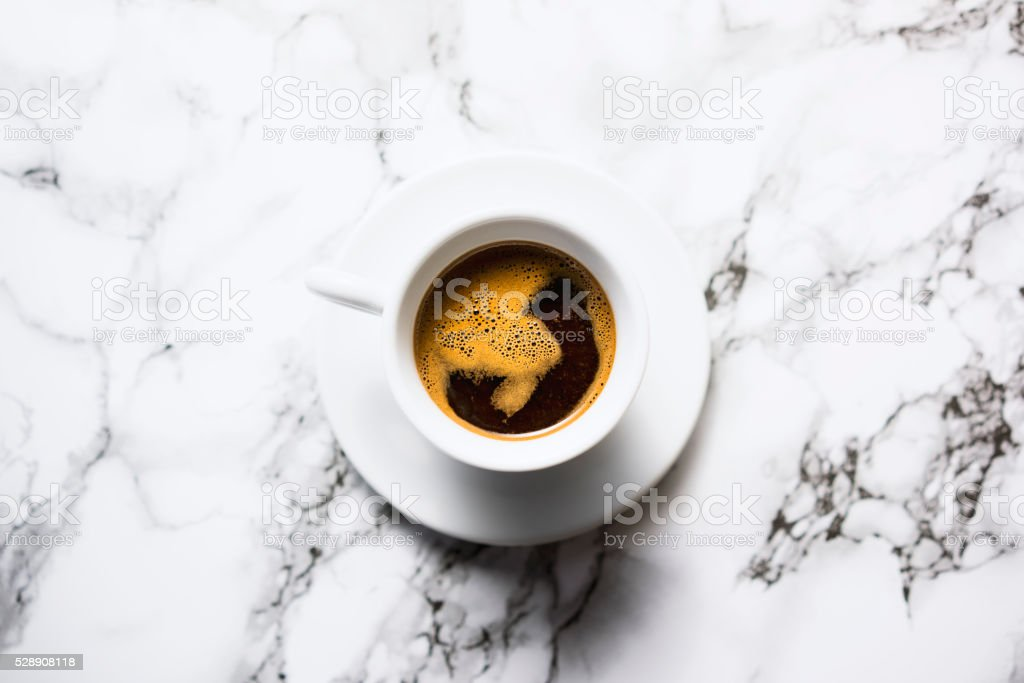 Nicely brewed espresso stock photo