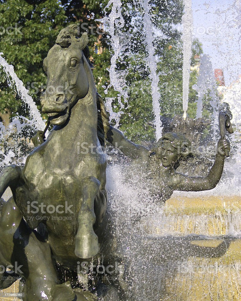 JC Nichols Fountain, Kansas City royalty-free stock photo
