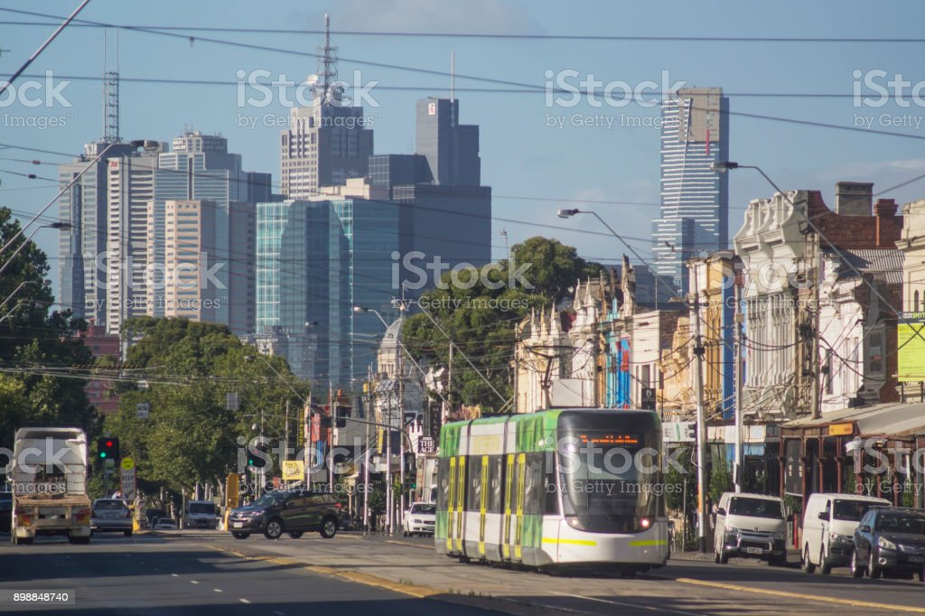 Nicholson Street, Melbourne stock photo
