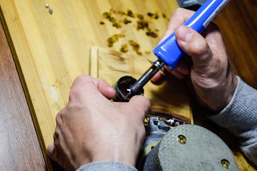 Nickel cobalt speaker 25gd-26. Repair of acoustic dynamics, ration soldering wire on speaker.