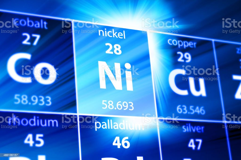 Nickel Ni Periodic Table Stock Photo More Pictures Of Abstract