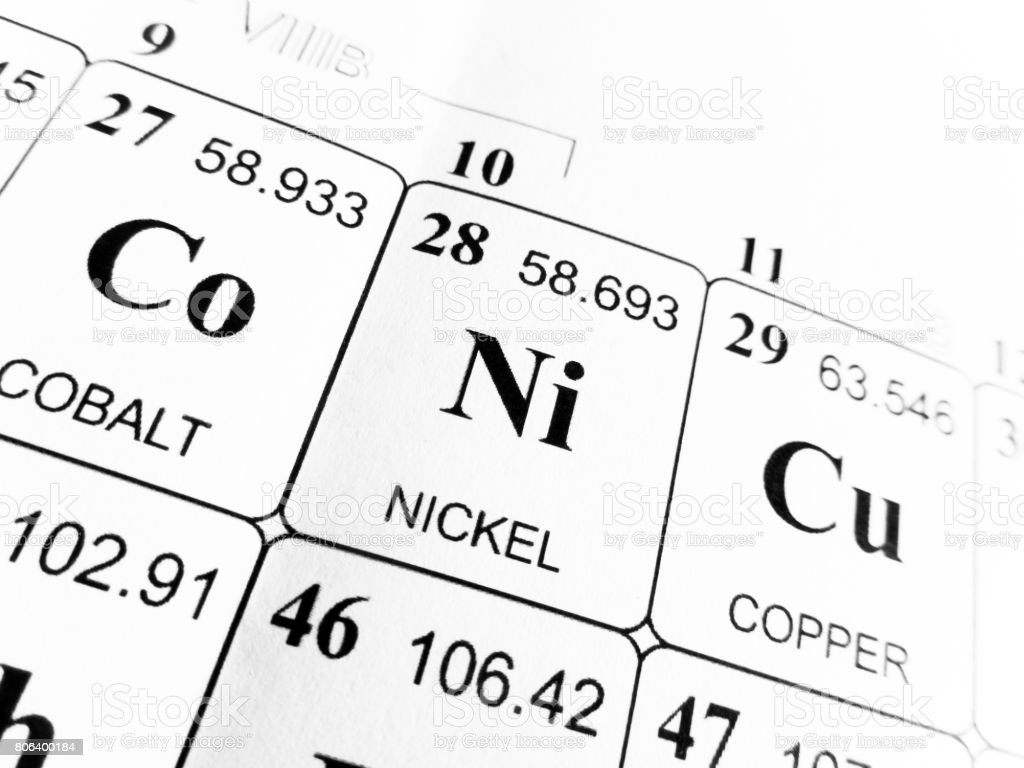 Nickel on the periodic table of the elements stock photo istock nickel on the periodic table of the elements royalty free stock photo gamestrikefo Gallery