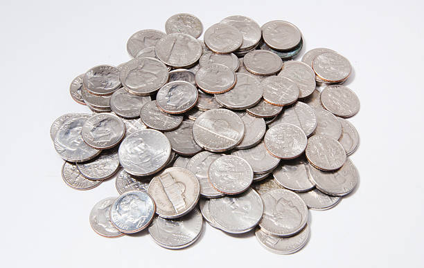 nickels and dimes - nickel stock photos and pictures
