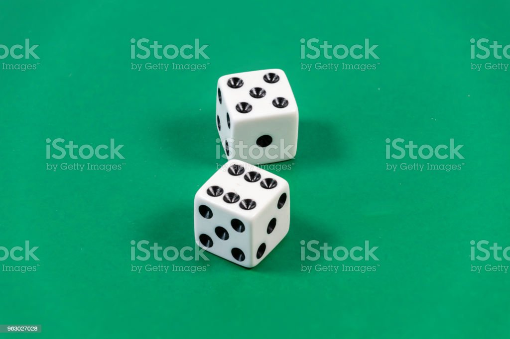 Nicknames of dice in the game of craps stock photo
