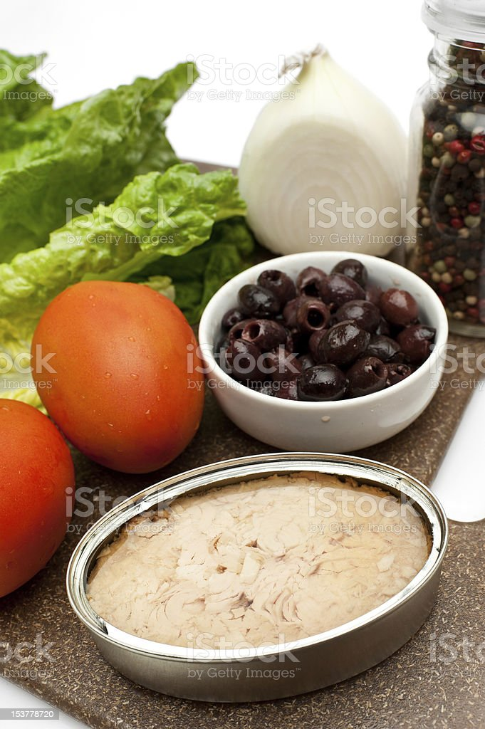 Nicoise Salad Ingredients royalty-free stock photo