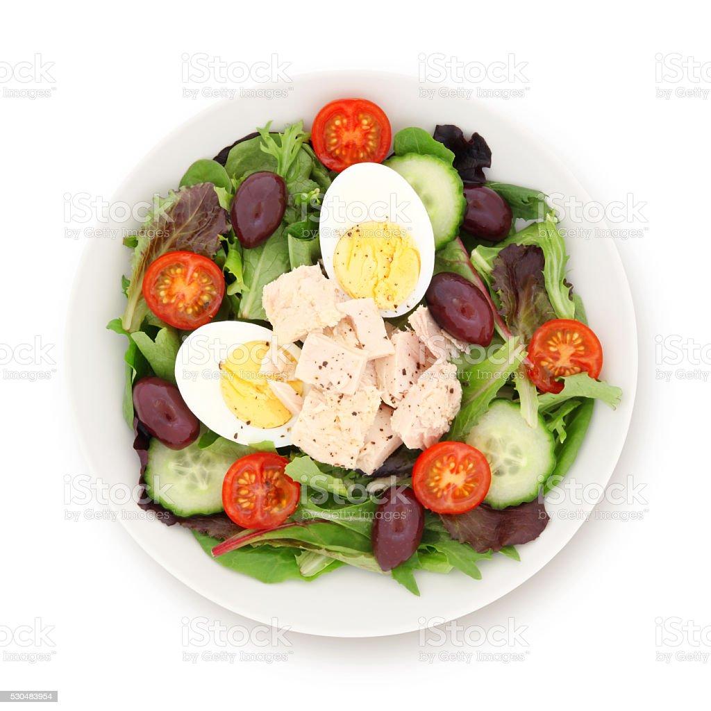 Nicoise Salad (with path) stock photo