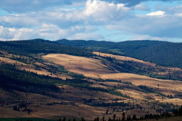 Nicola Valley outside Merrit British Columbia Canada stock photo