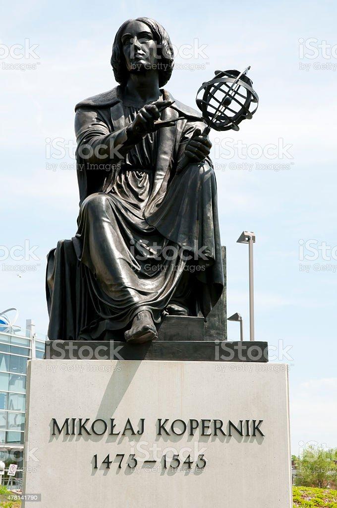 Nicolas Copernic Statue - Montreal - Canada stock photo