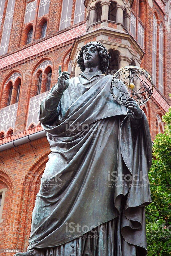 Nicolaus Copernicus monument in Torun stock photo