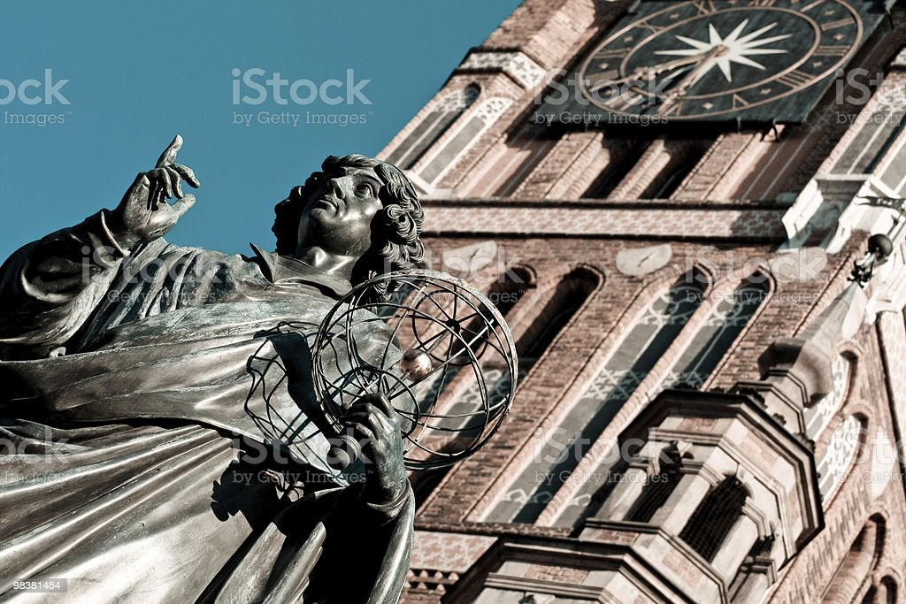 Nicolaus Copernicus monument (Torun) royalty-free stock photo