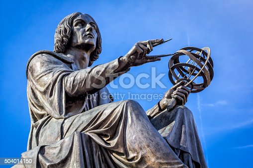Monument of great astronomer Nicolaus Copernicus made by Bertel Thorvaldsen in 1822, Warsaw, Poland