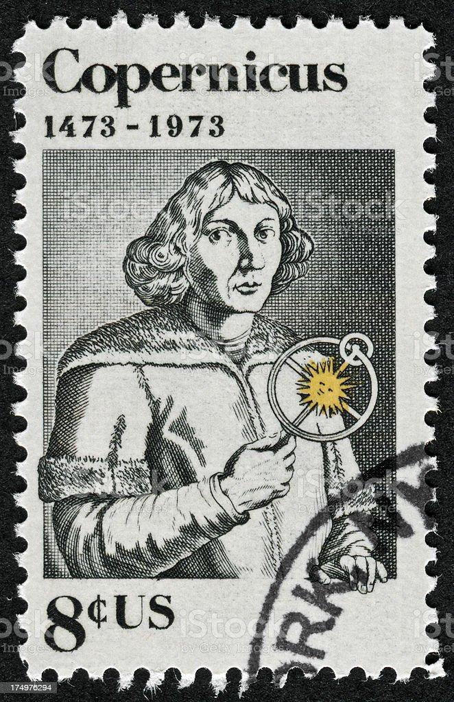 Nicolaus Copernicus Stamp royalty-free stock photo