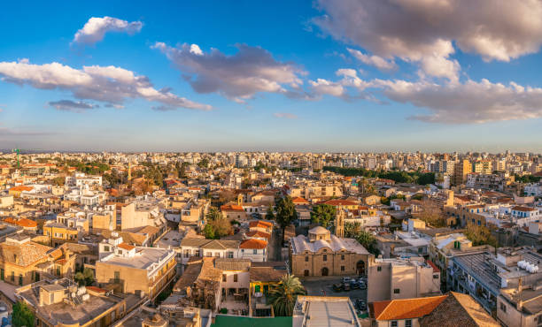 Nicosia City View. Old Town. Cyprus stock photo