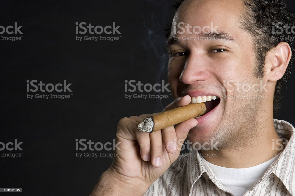 Nicotine addiction royalty-free stock photo