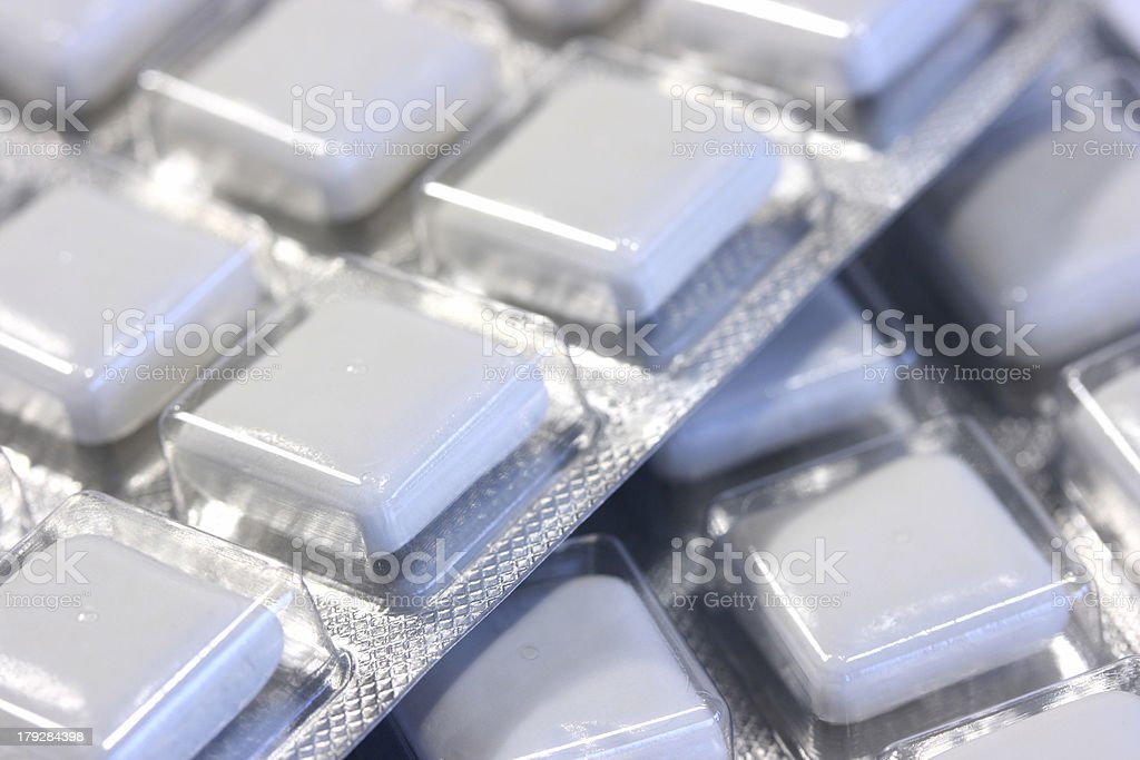 Nicotine Gum royalty-free stock photo