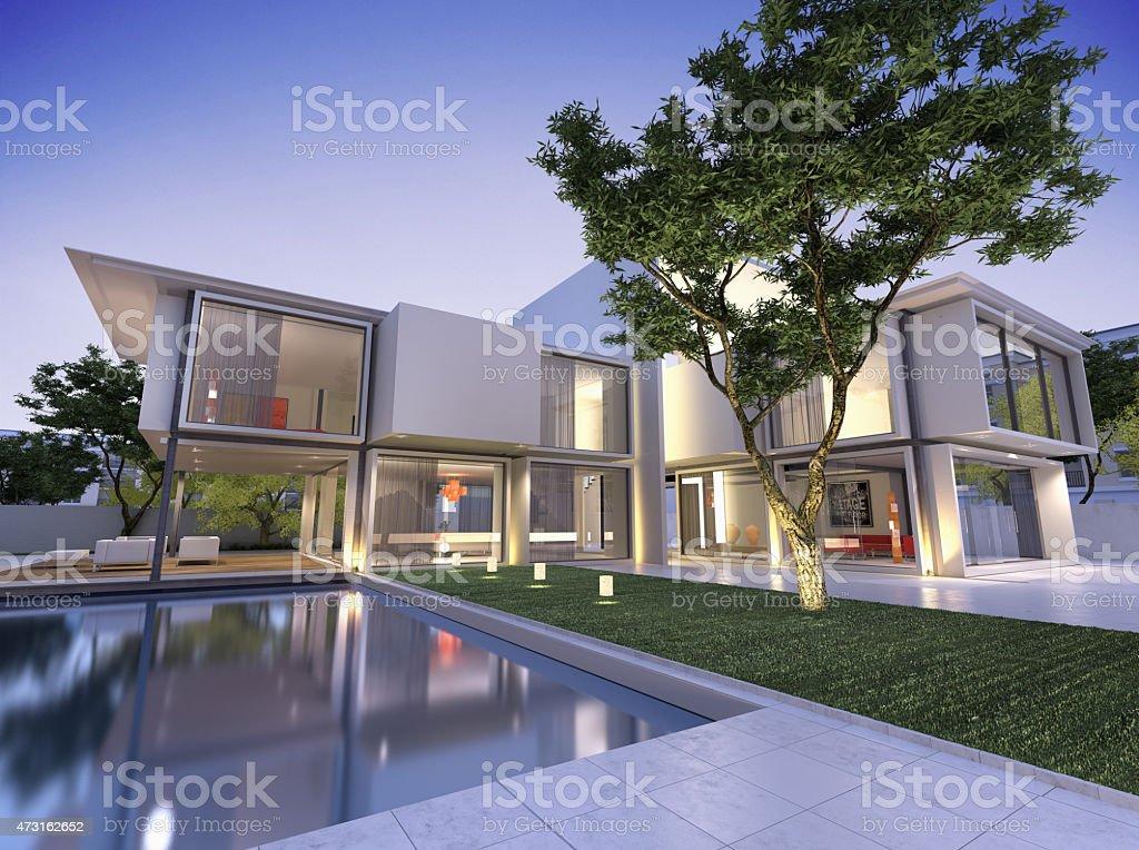 Nid villa stock photo