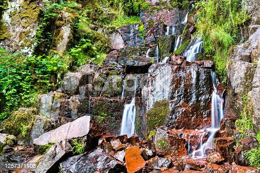 istock Nideck Waterfall in the Vosges Mountains - Alsace, France 1257371108