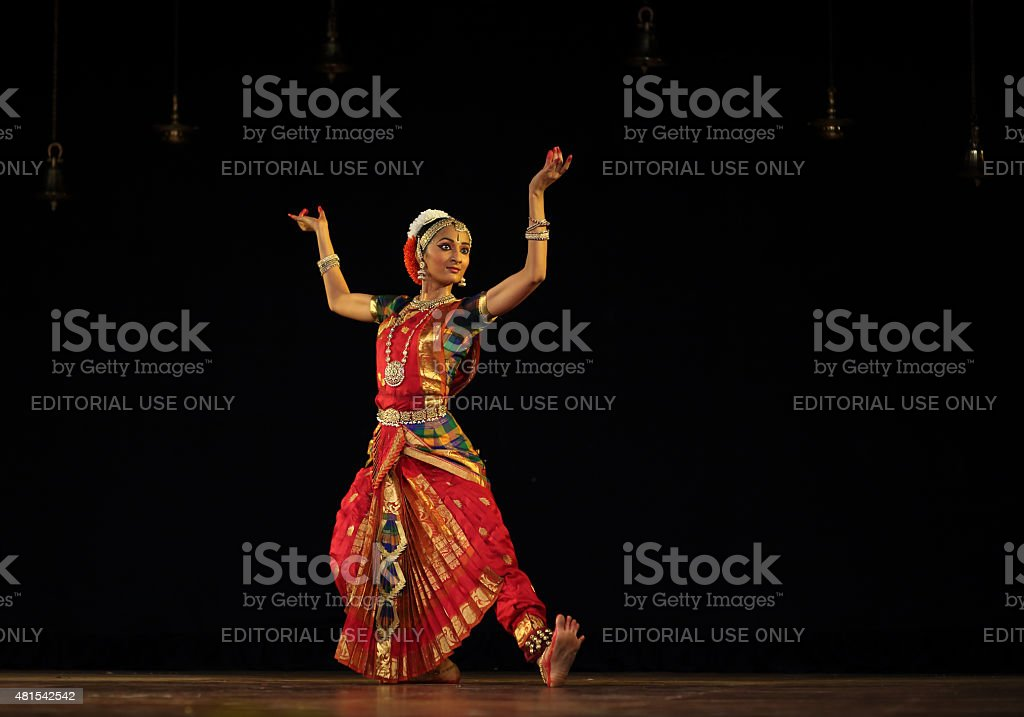 Nidhi Ravishankar - Bharatanatyam stock photo