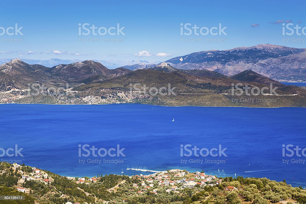 Nidri View From Above royalty-free stock photo