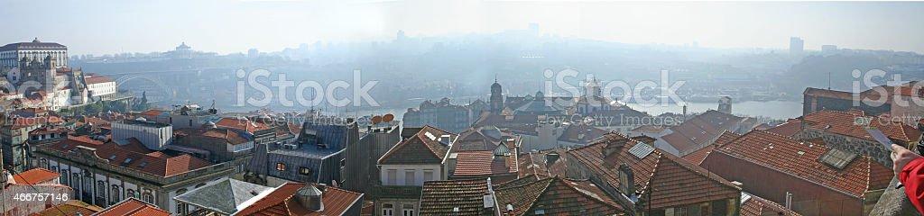 Niebla en Porto stock photo