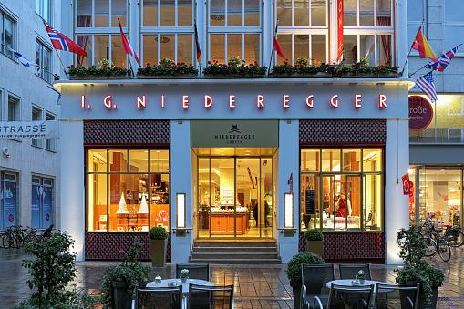 Niederegger-Cafe in Lubeck, Germany