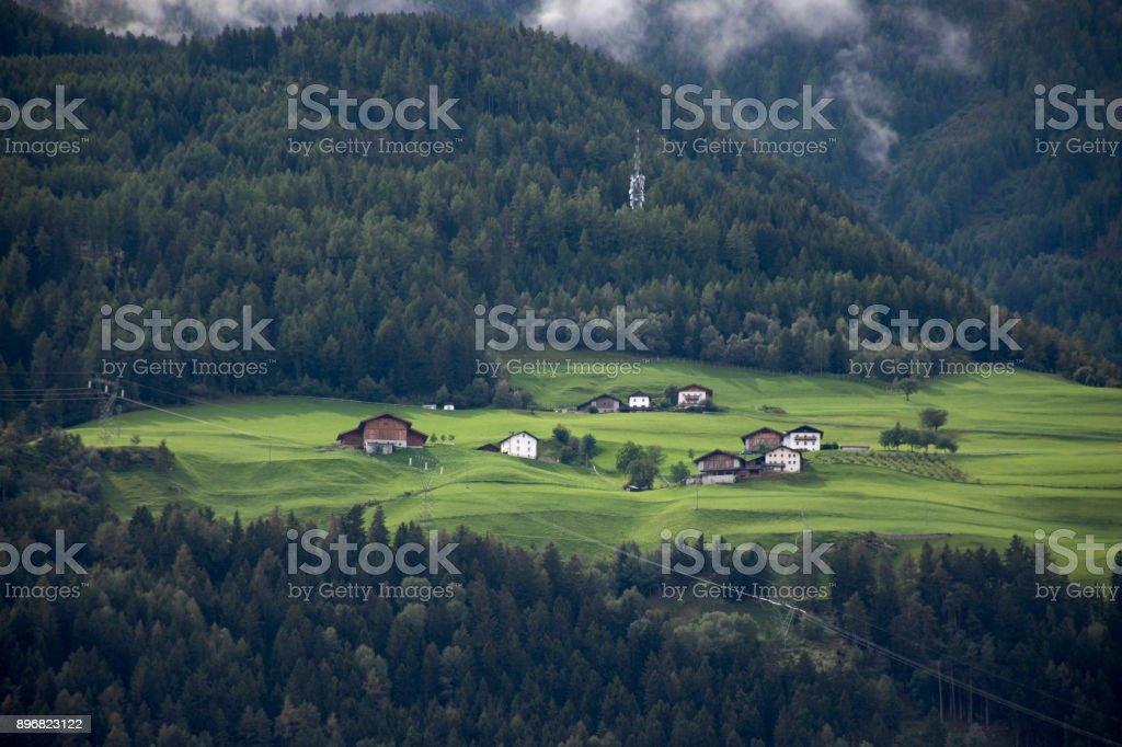 Niederthai village at Otztal Valley in Tirol, Austria stock photo