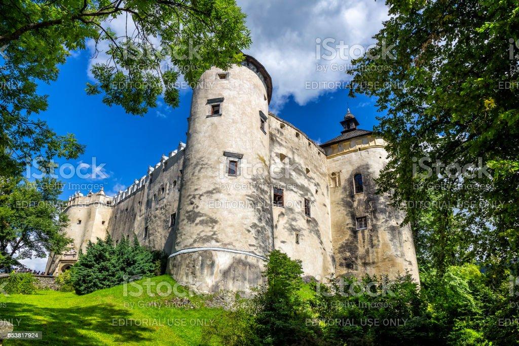 Niedzica Castle on the hill, Poland stock photo