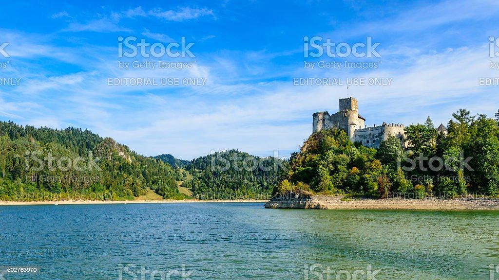Niedzica Castle stock photo