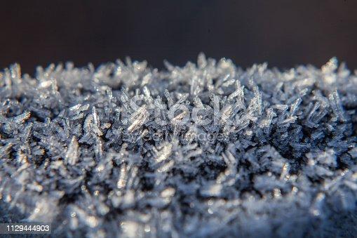 Śnieg z bliska, zimowa pora roku