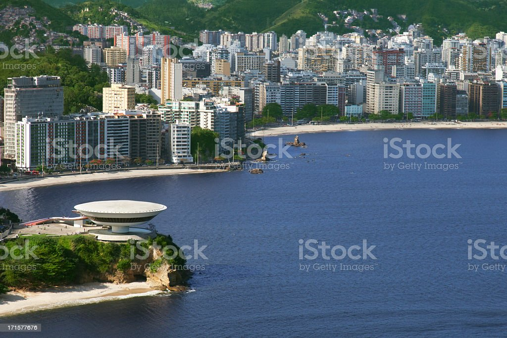 Niemeyer´s famous museum in Niteroi city stock photo