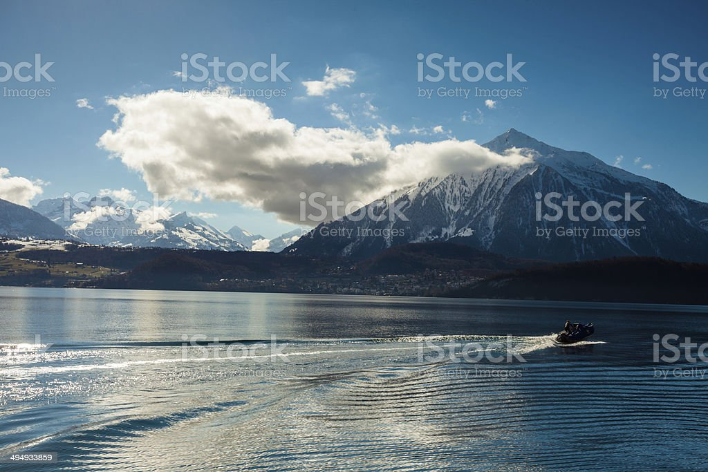 Niesen Peak of Swiss Alps royalty-free stock photo