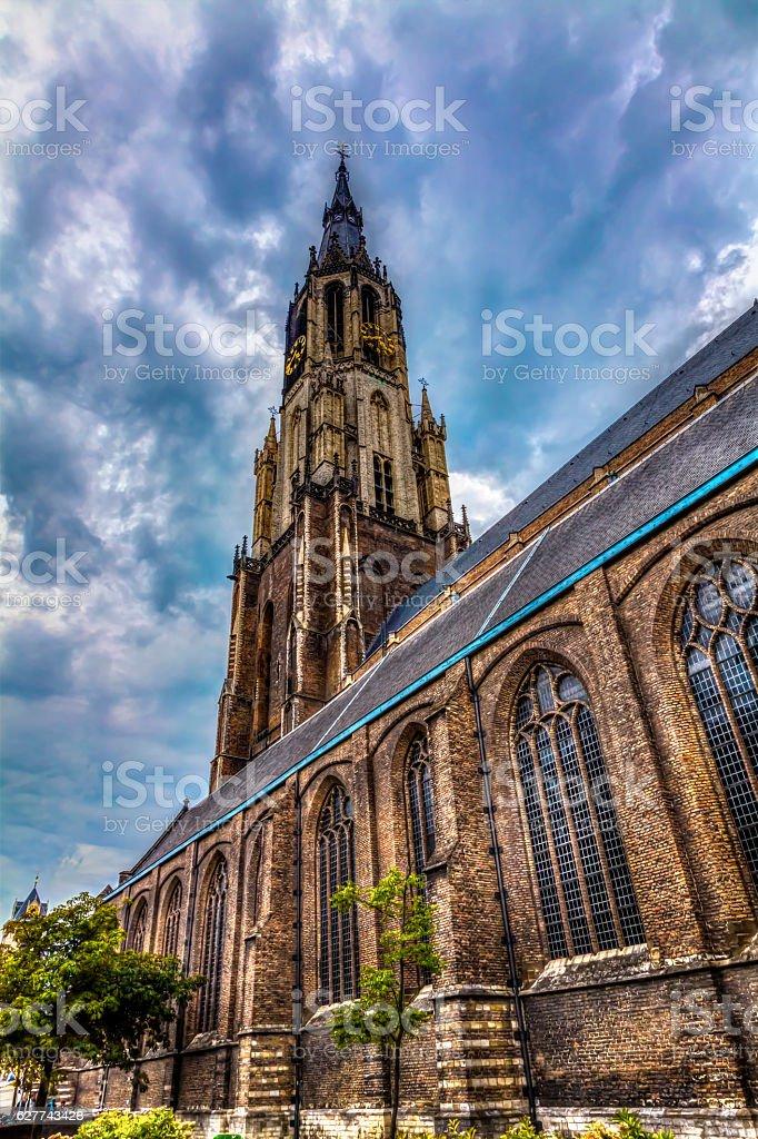 Nieuwe Kerk cathedral stock photo