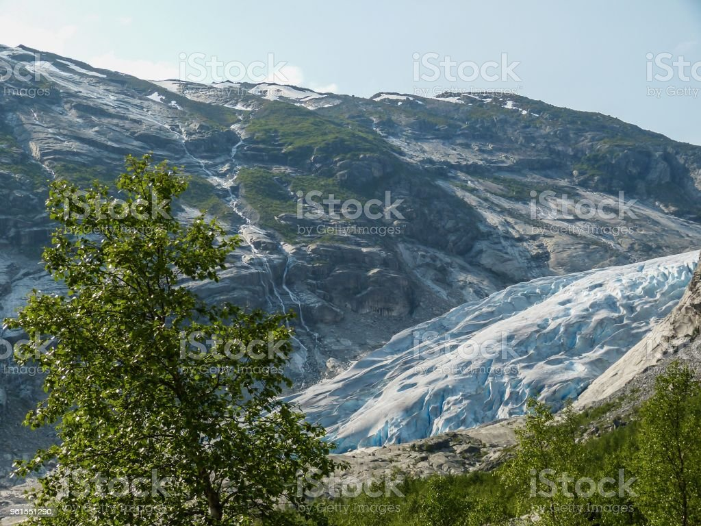 Nigardsbreen Glacier in Sogn Fjordane - Norway stock photo