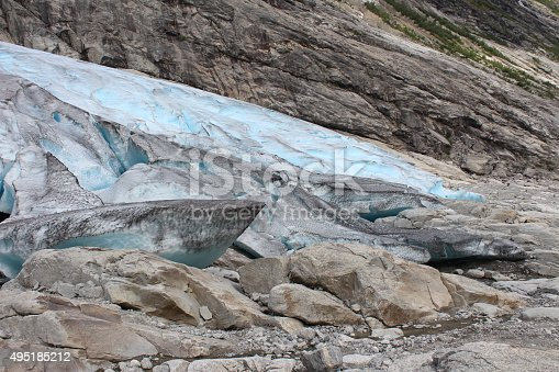 Nigardsbreen is a glacier arm of the large Jostedalsbreen glacier. Nigardsbreen lies about 30 kilometres (19 mi) north of the village of Gaupne in the Jostedalen valley, Luster, Sogn og Fjordane county, Norway. It is located just west of the Jostedøla river.