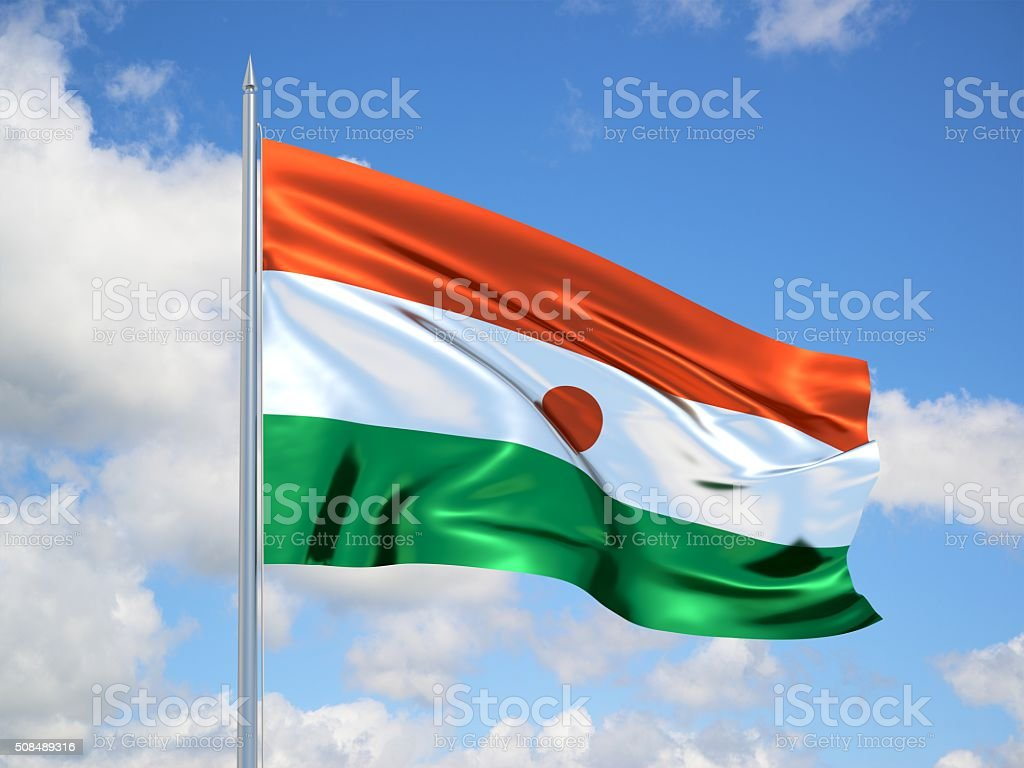 Niger 3d flag stock photo