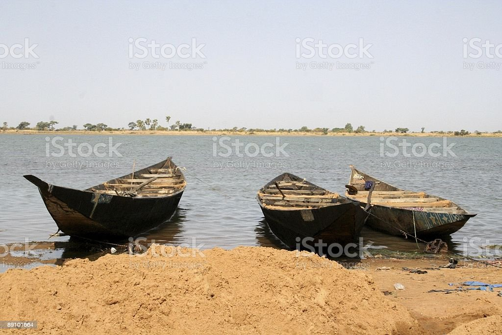 Niger river scene royalty-free stock photo
