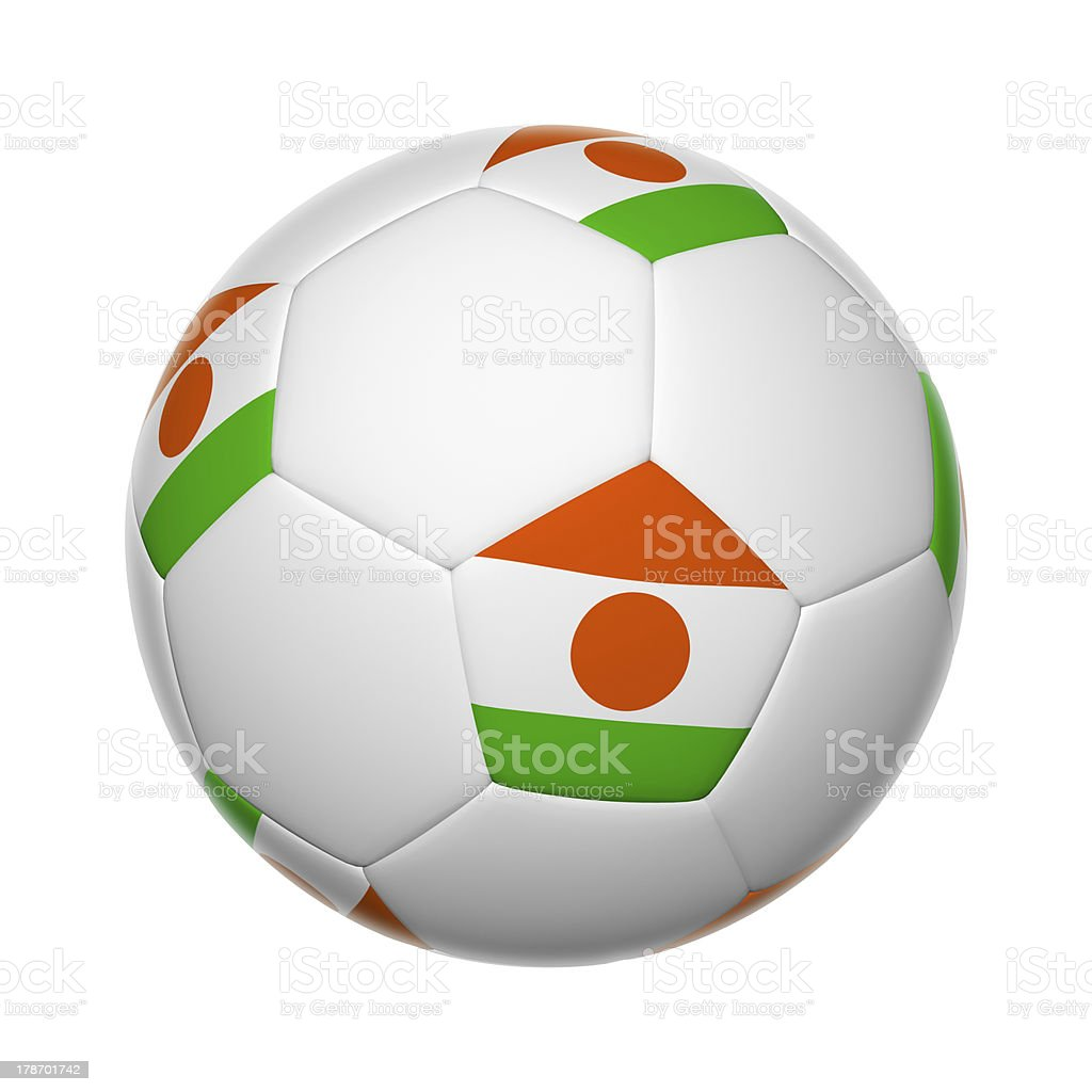 Niger soccer ball stock photo