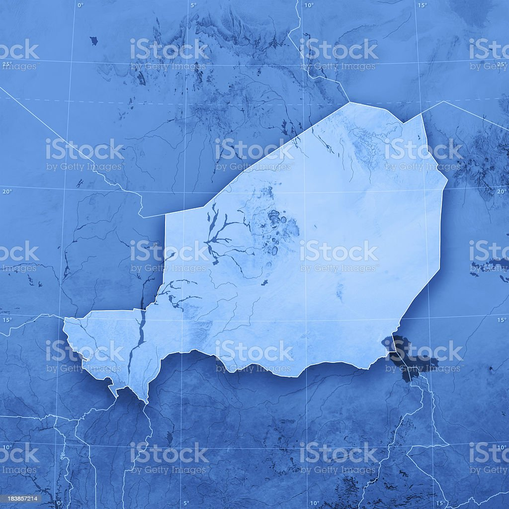 Niger Topographic Map royalty-free stock photo