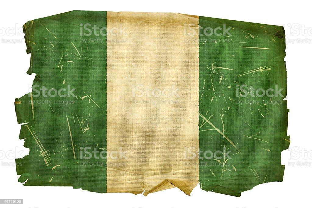 Nigeria bandera de edad, aislado sobre fondo blanco. - foto de stock