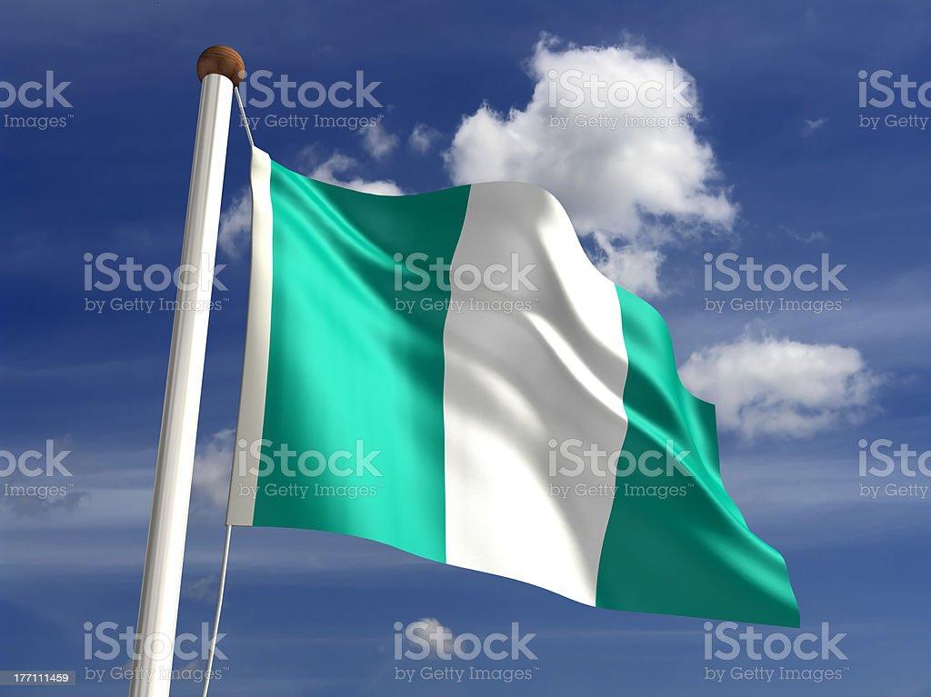 Nigeria bandera (con trazado de recorte - foto de stock