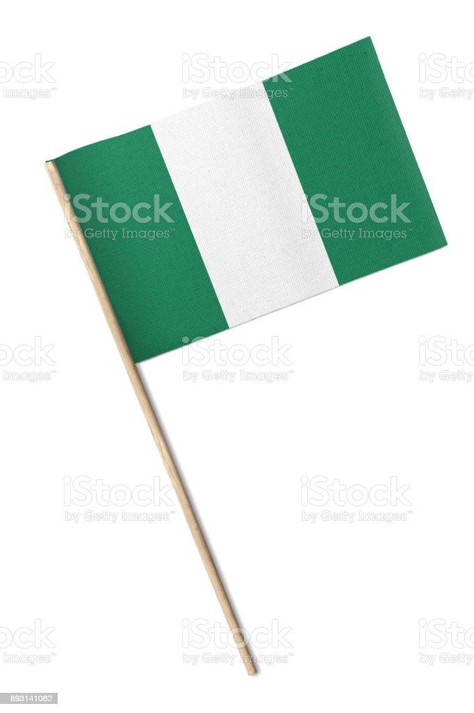 Bandera de Nigeria - foto de stock