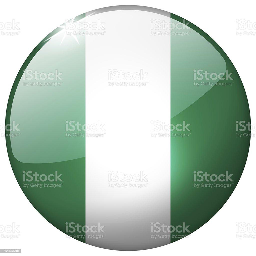 Nigeria redonda de vidrio botón - foto de stock