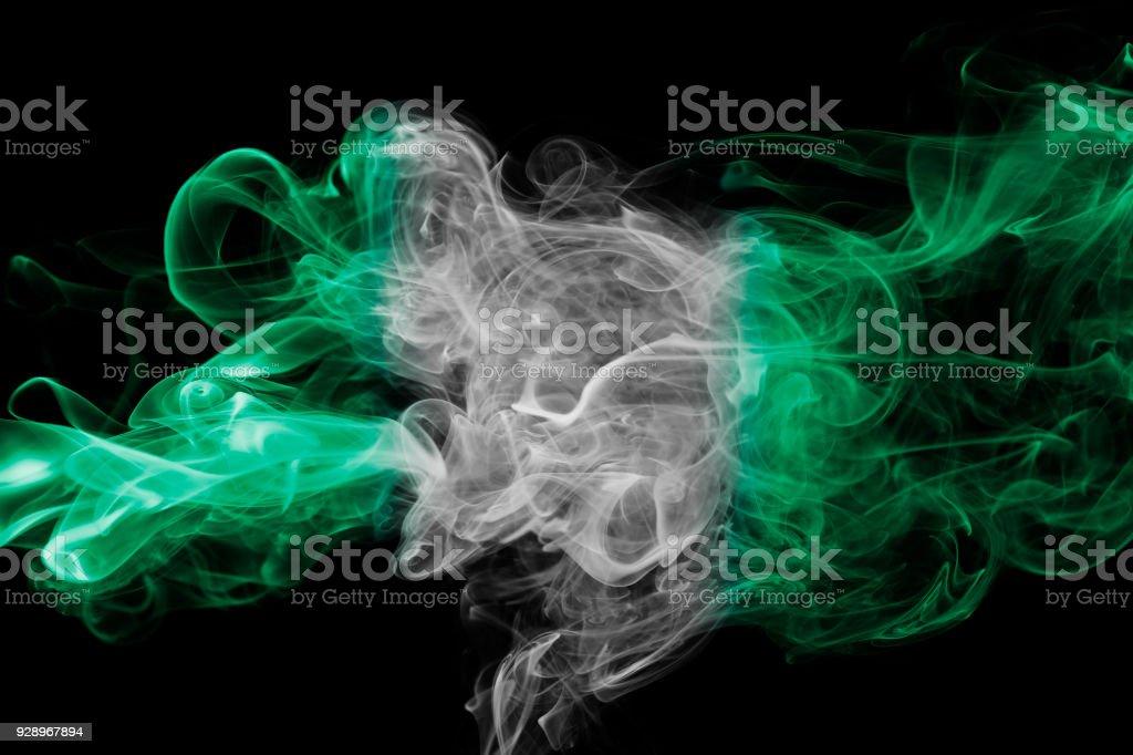 Bandera de Nigeria humo - foto de stock